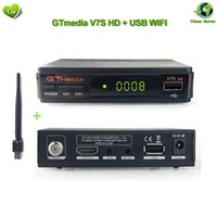 receptor de satélite newcamd al por mayor-Receptor de TV satelital Receptor HD Gtmedia V7S con wifi usb para DVB-S2 Actualización del decodificador satelital Freesat V7 HD Potencia de YouTube para CCTV newcamd