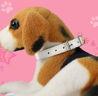 Wholesale cat collar size for sale - Group buy Pu Leather Pet Dog Collar For Puppy Cat Chihuahua Small Dog Neck Strap Necklace Solid Color Adjustable Size GGA690