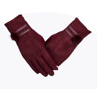 Wholesale Life Colour - 2017 Women Lady Gloves in Winter Keep Warm Soft Cotton Female Gloves in Black Blue Red Gray Colour High Quality for Daily Life