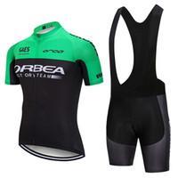 cycling al por mayor-Envío gratis 2019 OREBA equipo de ciclismo usar gel almohadillas baberos pantalones cortos conjunto 100% poliéster transpirable jersey de ciclismo profesional Ropa Ciclismo ropa de bicicleta