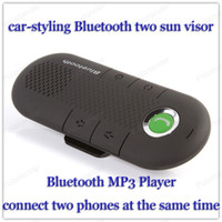 Wholesale Free Style System - The new Bluetooth mini car-styling Bluetooth hands-free car dragging two sun visor hands-free intercom system