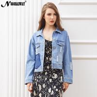 3e9953a50497 Autumn new denim jacket for women casual jeans coats korean vintage short  ladies basic outerwear female femme clothing 2018 blue