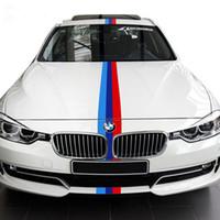 ingrosso adesivi nazionali di bandiera-1M * 15CM Fiore tricolore Bandiera nazionale Film da colorare Refit A Car Engine Engine Car Top Body Sticker