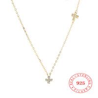 gemstone jewelry china achat en gros de-Chine Pas Cher En Gros Mode Nouveau 925 sterling ARGENT cz strass pierre précieuse autrichien CZ Cristal croix Collier Beaux bijoux