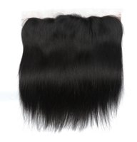 Wholesale brazilain hair straight resale online - Brazilian Straight Hair x4 Ear To Ear Pre Plucked Lace Frontal Closure whosealse brazilain Remy Human Hair lace frontal Free Part