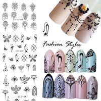 Wholesale art border designs - Cross border environmental protection watermark, nail binding, French Art Necklace, petal design, DIY nail ornament sticker.
