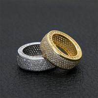precio de diamante rubí al por mayor-Circón micro con incrustaciones de anillo anillo de diamante dominante de los hombres Hip Hop de calidad superior Fashaion Hip Hop Accesorios al por mayor tamaño EE.UU.