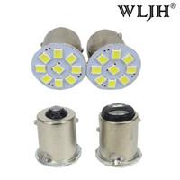 Wholesale Hyundai Backup - WLJH 100x 1156 BA15S P21W 1157 3528 LED Brake Light Tail Turn Signal Reverse Backup Light Lamp Bulb 24V Car Truck Trailer Led