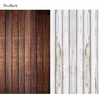 Wholesale digital background floors - NeoBack new born baby Photography Background Wood Floor Digital Printing Vinyl Cloth Studio Photo Backdrops white brown options