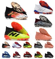 Wholesale indoors boots shoes for sale - 2018 New Predator Predator FG PP Paul Pogba soccer x cleats Slip On football boots mens high top soccer shoes cheap