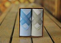 Wholesale chest towel resale online - Printed Fashion Simple Mens Chest Towel Square Handkerchief Casual Business Hanky Wedding Handkerchief Pocket Lh0073