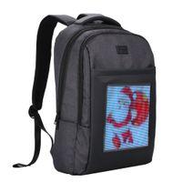 Wholesale bag advertisement for sale - Group buy Dynamic LED Cool Backbag Compact Advertising Backpack Laptop Schoolbag Double Shoulder Bag for Outdoor Advertisement Business