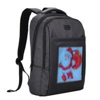 beutelanzeige großhandel-Dynamische LED Coole Tasche Kompakte Werbung Rucksack Laptop Schultasche Doppel Umhängetasche für Außenwerbung Business