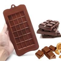 3d çerezler toptan satış-24 kafes 3D Silikon Araçları Ice Cube Çikolata Kalıp Şeker Çerez Pişirme Fondan Kalıp Kek Dekorasyon B