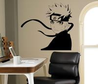 décorations de ninja achat en gros de-Amovible Manga Japonais Mur Declas Naruto Ninja Célèbre Motif Étanche Autocollant Mural pour Salon chambre décoration de la maison