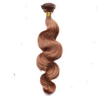 Wholesale discount hair weave extensions for sale - Group buy Discounted Pure Color Strawberry Blonde Brazilian Human Hair Extensions Inchs Body Wave Hair Weaving a Unprocessed Hair Extensions