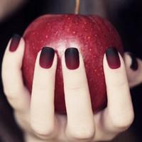 patchs de dame achat en gros de-Simple 24pcs / set noir + rouge design de couleur de saut de gradient fini faux ongles taille courte pleine ongles conseils outil de Lady dame Patch