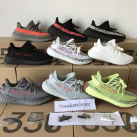 Wholesale Freeze Blue - 2018 Sply 350 V2 Beluga 2.0 Blue Tint Semi Frozen Yellow Cream White Bred Zebra Black Red White Men Women Running Shoes