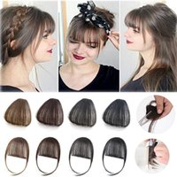 Wholesale indian real human hair extensions for sale - Group buy 100 Real human hair bangs Clip In Bangs Extension Hand Tied Hair Bangs with Temples blonde