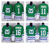 CCM Hartford Whalers 16 Patrick Verbeek 10 Ron Francis 11 Kevin Dineen 1  Mike Liut Vintage Hockey Jerseys Stitched f2e0e79fb