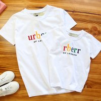 Wholesale mother daughter shirts - Parent-child T-shirt Summer New Style Letters Printed Family Outfits Matching Set Clothing Clothes Mother And Daughter Dress