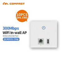Wholesale project panels - 10pcs DHL QCA9531 Wireless 86 AP Panel 1 RJ45 ,1 usb port in Wall wireless Wifi cover project for hotel home support 48v poe