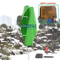 Wholesale vertical axis - High quanlity! 200w 24v vertical axis wind generator with 12v 24v MPPT controller ,Maglev wind turbine generator