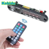iphone wma großhandel-Kebidu 5 V 12 V 24 V WMA MP3 Audio 3,5mm Mp3-player Decoder Board USB TF Radio FM AUX Drahtlose Bluetooth Modul Für Auto für iPhone