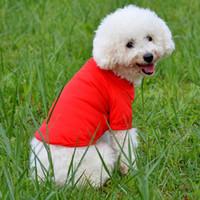 vestuário com preço de fábrica venda por atacado-Venda quente Camisas De Polo Do Cão Para A Primavera Verão Colorido Roupas Pet Material Poromeric Para Pequeno Bebê Pet Fácil Lavar Preço de Fábrica