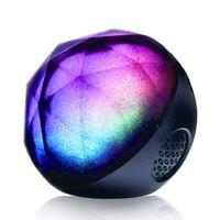 iphone için top hoparlör toptan satış-LED Renkli Kablosuz Stereo Ball Hoparlörler TBT Bluetooth Hoparlörler Destek TF Kart iPhone / Samsung