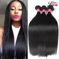 Wholesale Malaysian Hair Silk - Brazilian Straight Hair Unprocessed 8A Mink Brazilian Virgin Silk Straight Human Hair Extension Peruvian Malaysian Indian Hair Bundles Deals