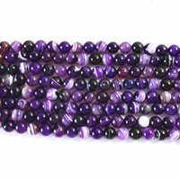 Wholesale onyx loose for sale - Group buy Charms purple dragon Veins Agat natural stone carnelian onyx mm round loose beads diy jewelry inch