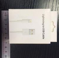 paquet de câble d'usb de pomme achat en gros de-boîte de détail en gros !! paquet pour iphone adaptateur usb câble de données boîte de vente au détail pour iphone 7 8 câble avec prix usine