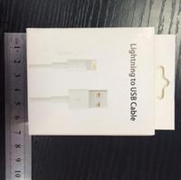 apple usb data cables оптовых-Розничная коробка оптом !! пакет для iphone адаптер USB-кабель для передачи данных розничная коробка для iphone 7 8 кабель с заводской ценой