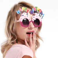 Wholesale Halloween Party Sunglasses - Dancing Ball Decoration Mask Creative Cream Cake Style Sunglasses For Party Happy Birthday Theme Design Funny Glasses New Arrival 12sf Z