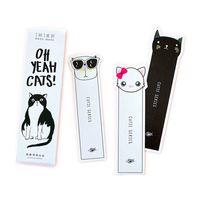 yer imi kedi toptan satış-30 Adet / grup Kawaii Kedi Imi Kırtasiye Bookmark Kağıt Kitap İşaretleyiciler Marque Sayfa Ofis Aksesuarları Sevimli Okul Malzemeleri