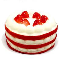 juguetes para adultos ciencia al por mayor-2019 Spot Red Scented Strawberry Cake Pie Squeeze Slow Rebound Kids Cartoon Toy descompresión juguete