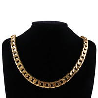Wholesale Cuban Link Gold Chains Wholesale - whole sale1 Pcs New Men Luxury Gold Color Necklace 10mm 24 inches Cuban Curb Chain Necklace Jewelry