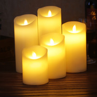 Wholesale paraffin lamps - Candle Simulation Originality Birthday Wedding Ceremony Home Decorate Remote Control LED Artificial Fake Wax Bougie Lamp Light 17ld5 bb