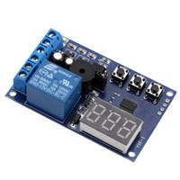 interruptores de voltaje controlado al por mayor-PCB Carga del Voltaje de Descarga Monitor de Prueba Interruptor de Relé Placa de Control Módulo DC 12V Módulo De Rele Interruptor Componentes Electrónicos