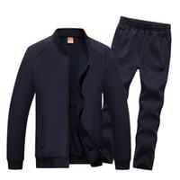 Wholesale autumn sport track suit for sale - Group buy Amberheard Fashion Autumn Winter Men Sporting Suit Jacket Pant Sweatsuit Piece Set Sportswear Mens Clothing Track Suit Set
