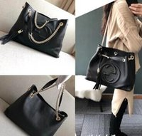 Wholesale dust free cell phone for sale – best 2018NEW Top HOT Classic Bag with Chain in Calfskin Leather Carried in Hand Aged Gold Tone Metal Jewellery come with dust bag