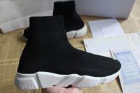 absorbente de zapatos al por mayor-Diseñador de moda zapatos casuales Entrenadores de velocidad elásticos Knit calcetín efecto botín zapatillas de deporte impactantes para hombres mujeres tamaño 35-46