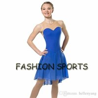 Wholesale blue ice skating dresses - custom-made Ice Figure Skating Dresses New Brand Figure Skating Competition Dress HB2573