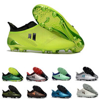 Wholesale pink shoes for youth online - 2018 new arrival low soccer shoes for youth Grass green gold black ACE PureControl FG soft spike football shoes for trainers