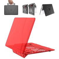 hava yastığı tutucu toptan satış-Macbook Kılıf Kol ile Katlama Standı Tutucu Sert Kabuk Koruyucu Kapak El Laptop Macbook Air 13 için Taşıma Çantası