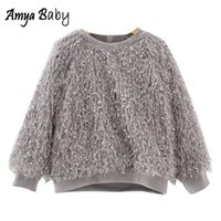 Wholesale Amya Baby Girls Sweaters Tassel Warm Toddler Girl Autumn Winter Clothes Children Sweater Pullover Girls Tops Cute Kids Sweaters