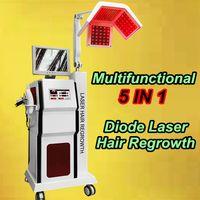 Wholesale Beauty Salon Combs - Beauty salon hair equipment laser hair regrowth comb bald head stimulator Spray Gun laser hair comb brush 5 in 1 multifunction