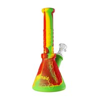 Wholesale detachable bong for sale - Group buy Pipe Beaker Bong Waxmaid Hobee Straight Tube Bong Detachable Water Pipe Smoking Dab Rig with Glass Sets