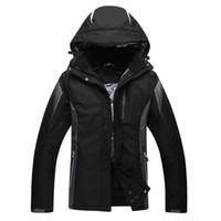 Wholesale winter snowboard coat men - High Quality Men Skiing Jackets Male Windproof Waterproof Pure Color Ski Clothes Snowboard Snow Coat Winter Dress Camping